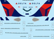 1/144 Scale Decal Delta Airbus A330-300