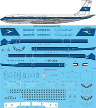 1/144 Scale Decal Kuwait Airways Boeing 707-369C