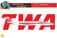 1/144 Scale Decal TWA MD-82