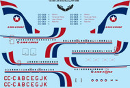 1/144 Scale Decal LAN Chile Boeing 707-320B