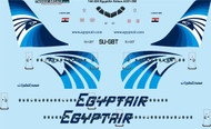 1/144 Scale Decal EgyptAir A-321 laser decal