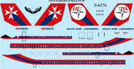 1/144 Scale Decal Air Malta Boeing 707-321 laser decal
