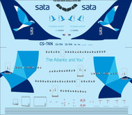 1/144 Scale Decal SATA Airbus A310-300 laser decal