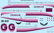 1/144 Scale Decal Geminair Boeing 707-430