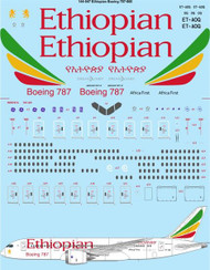 1/144 Scale Decal Ethiopian Boeing 787-860