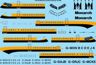 1/144 Scale Decal Monarch Delivery Boeing 757-200