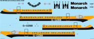 1/144 Scale Decal Monarch Airlines Airbus A320