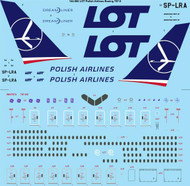 1/144 Scale Decal LOT Polish Airlines Boeing 787-800