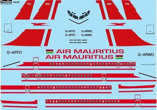 1/144 Scale Decal Air Mauritius Boeing 707-436