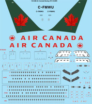 1/144 Scale Decal Air Canada Boeing 767-333/ER