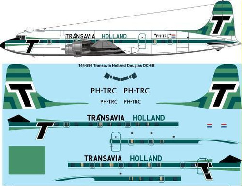144-590 Transavia Holland Douglas DC-6B laser decal