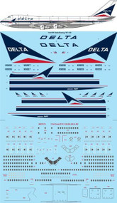 1/144 Scale Decal Delta Boeing 747-132