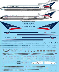 1/144 Scale Decal Delta Boeing 727-200/Adv