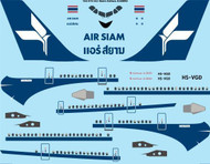 1/144 Scale Decal Air Siam Airbus A300B2