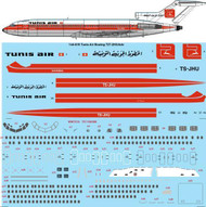 1/144 Scale Decal Tunis Air Boeing 727-2H3/Adv