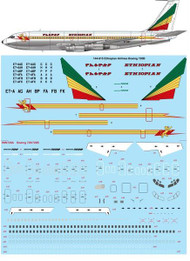 1/144 Scale Decal Ethiopian Airlines Boeing 720B