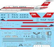 1/144 Scale Decal Pan Adria McDonnell Douglas DC-9-32