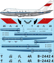 1/144 Scale Decal CAAC Boeing 747SP-J6
