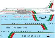 1/144 Scale Decal Balkan Bulgarian Airlines (final livery) Ilyushin IL-18