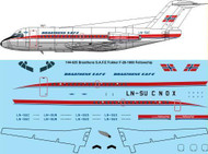 1/144 Scale Decal Braathens SAFE Fokker F28-1000
