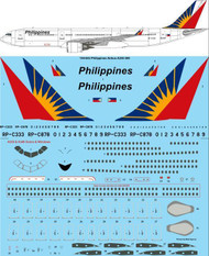 1/144 Scale Decal Philippines Airbus A330-300