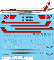 1/144 Scale Decal TAP Air Portugal Boeing 707-320B/C