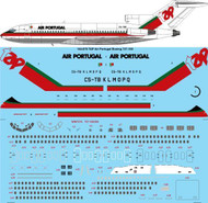 1/144 Scale Decal TAP Air Portugal Boeing 727-100/C