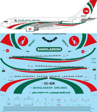 1/144 Scale Decal Biman Bangladesh Airlines Airbus A310-324