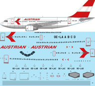 1/144 Scale Decal Austrian Airlines Airbus A310-300