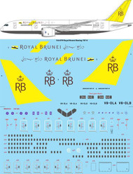 1/144 Scale Decal Royal Brunei Boeing 787-8