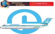 1/144 Scale Decal Caribair DC9-30