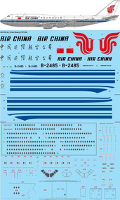 1/144 Scale Decal Air China Boeing 747-8