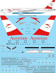 1/144 Scale Decal Austrian Airlines Boeing 777-200/ER