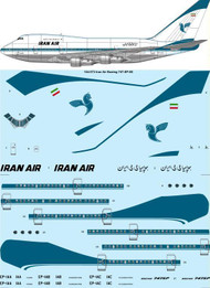 "1/144 Scale Decal Iran Air ""Delivery"" Boeing 747SP-86"