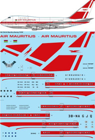 1/144 Scale Decal Air Mauritius Boeing 747SP
