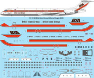 1/144 Scale Decal BIA McDonnell Douglas MD-83