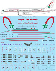 1/144 Scale Decal Royal Air Maroc Boeing 787-8