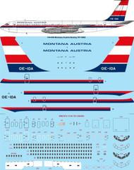 1/144 Scale Decal Montana Austria Boeing 707-396C