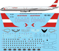 1/144 Scale Decal Austrian Airlines Douglas DC-8-63CF