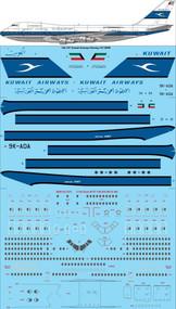 1/144 Scale Decal Kuwait Airways Boeing 747-269B