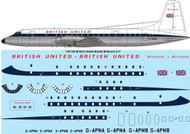 1/144 Scale Decal British United Bristol Britannia 317