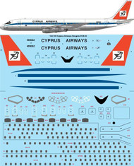1/144 Scale Decal Cyprus Airways Douglas DC-8-52