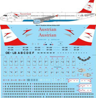 1/144 Scale Decal Austrian Airlines Airbus A321