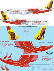1/144 Scale Decal Air India Express Boeing 737-800 VT-AXA