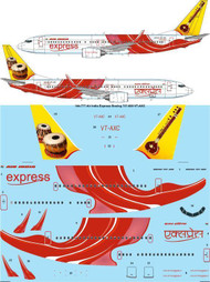 1/144 Scale Decal Air India Express Boeing 737-800 VT-AXC