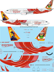 1/144 Scale Decal Air India Express Boeing 737-800 VT-AXE
