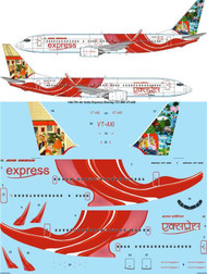 1/144 Scale Decal Air India Express Boeing 737-800 VT-AXI