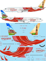 1/144 Scale Decal Air India Express Boeing 737-800 VT-AXQ