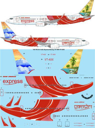 1/144 Scale Decal Air India Express Boeing 737-800 VT-AXX