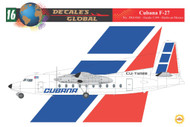 1/144 Scale Decal Cubana F-27